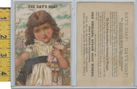 Victorian Card, 1890's, Days Soap, Philadelphia, Girl With Doll