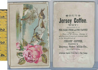 Victorian Card, 1890's, Dayton Spice, Jersey Coffee, Birds, Rose (A)