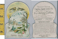 Victorian Card, 1890's, Dayton Spice, Jersey Coffee, Birds, Christmas (A)