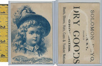 Victorian Card, 1890's, Demorest Patterns, Child Wearing Hat With Feathers
