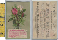 Victorian Card, 1890's, Demorest Patterns, Westboro MA, Flowers