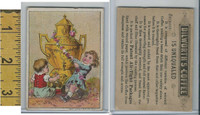 Victorian Card, 1890's, Dilworth Coffee, Children, Pot, Flowers