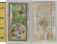 Victorian Card, 1890's, Dougherty Mince Meat, Port Byron NY, Children, Cows