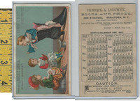 Victorian Card, 1882, Herrick & Lodwick Shoes, Saratoga, Calendar, Book, Doll