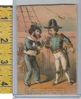 Victorian Card, 1882, Higgins Soap, Wall Street New York, Sailors, Kind Captain