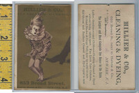 Victorian Card, 1882, Hiller Cleaing, Newark NJ, Joker Kicked In Pants