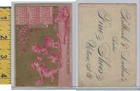 Victorian Card, 1879, Holbrock Shoes, Utica, Hay, Allegheny PA, Calendar (A)