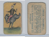 E43 American Caramel, Circus, 1911, Clown Riding Donkey