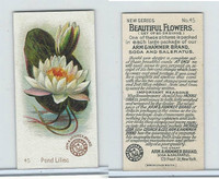 J16s, Church & Dwight, Beautiful Flowers Small, 1895, #45 Pond Lillies