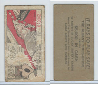 M18 Lucky Safety Cards, 1953, Zigzagging Bike, Albany Times