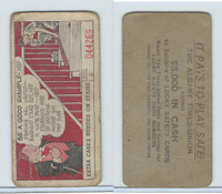M18 Lucky Safety Cards, 1953, Be A Good Example Stairs, Albany Times