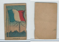 W Card, Strip Card, Flags, 1920's, France