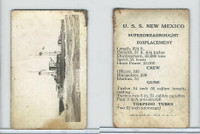 W Card, Naval Card, 1917, E. Muller, Warships, USS New Mexico