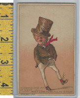 Victorian Card, 1890's, Kennedy, PH, Husband Goes Out At Night
