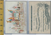 Victorian Card, 1890's, Kingsford Starch, Oswego NY, Exhibit, USA Flags