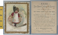 Victorian Card, 1890's, McLaughlin Coffee, A Little Witch, Devils, Black Cat