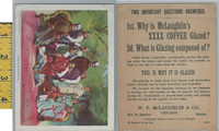 Victorian Card, 1890's, McLaughlin Coffee, Group of Parsees