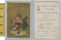 Victorian Card, 1890's, Mellins Food, Metcalf, Boston, Boy Painting