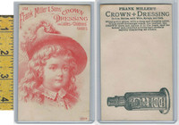 Victorian Card, 1890's, Miller, Frank, Crown Dressing, Child With hat