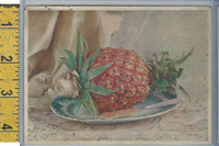 Victorian Card, 1890's, Natural Process, January, Pineapple