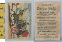 Victorian Card, 1890's, Neals Carriage Paint, Sheehan, Utica NY, Horse Wagon