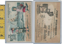 Victorian Card, 1890's, New Home Sewing, Northrup, Ithaca, Sailboat, Beach