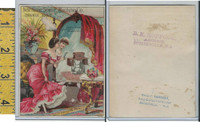Victorian Card, 1890's, New Home Sewing, Carkhuff, Somerville NJ, Mirror