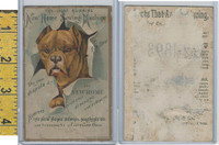 Victorian Card, 1890's, New Home Sewing, Cleveland Ohio, Bulldog