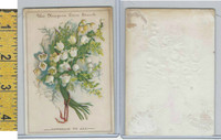 Victorian Card, 1890's, Niagara Starch, Bundle of White Flowers