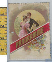 Victorian Card, 1890's, Programme, Couple Dancing