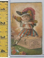 Victorian Card, 1890's, Pyles Pearline Soap, New York, Child Riding Box