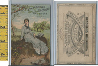 Victorian Card, 1890's, Reynolds Brothers Shoes, Utica NY, Girl Sitting