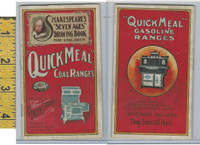 Victorian Card, 1890's, Ringen Stove, St. Louis MO, Shakespeare Drawing Book