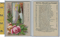 Victorian Card, 1890's, Roberts Royal Relief, Springfield Ohio, Flowers