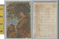 Victorian Card, 1890's, RTS Prize Exhibit Series, Picking Peaches