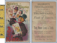 Victorian Card, 1890's, Salsbury Troubadours, In 3 of a Kind