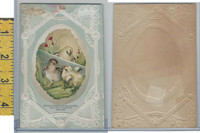 Victorian Card, 1890's, Sarcia Coffee, Baby Chickens, Chicks
