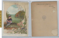 Victorian Card, 1890's, Schipper Publishers, Your Valentine, Girl With Doll