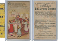 Victorian Card, 1890's, Sculls Coffee, Camden NJ, #4 Pouring Coffee