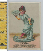 Victorian Card, 1890's, Shaw Tailor, Lock Haven PA, Girl (C)