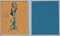 W424 Mutoscope Blotter Cut Pin Up Girls, 1940's, A Miss Is As Good As Her