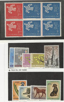 Luxembourg, Postage Stamp, #382-3 Mint NH Blocks, 376//388 NH & LH, 1961