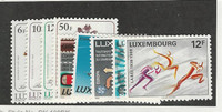 Luxembourg, Postage Stamp, #780-785, 787-788, 791 Mint NH, 1988
