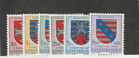 Luxembourg, Postage Stamp, #B204-B209 Mint NH, 1958