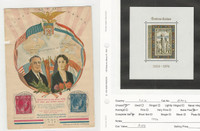 Luxembourg, Postage Stamp, #B302 Mint NH Sheet, Roosevelt Patriotic Cover
