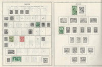 Malta Collection 1860 to 1968 on 8 Minkus & Stock Pages