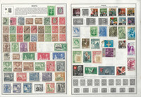 Malta Collection 1885 to 1987 on 15 Harris Pages, All Different