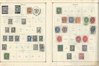 Mexico Collection 1856 to 1940 on 13 Scott International Pages