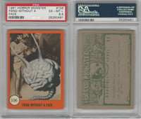 1961 Nu-Cards W531, Horror Monster, #106 Fiend Without A Face, PSA 6.5 EXMT+