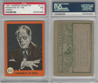 1961 Nu-Cards W531, Horror Monster, #113 Phantom Of The Opera, PSA 7 NM